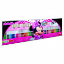 Set pictura 96 piese, 4 stampile, tus, 60 carioci, 30 stickere si caiet cu activitati Minnie Multiprint MP18866