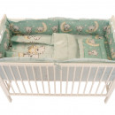 Lenjerie MyKids Bear On Moon Mint M2 4+1 piese 120x60