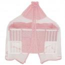 Lenjerie MyKids Crown Pink 7 Piese 120x60 cm