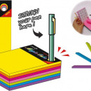 "Magic cube color 101 x 76 mm, 280 file, Stickn - 7 culori neon"""