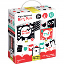 Set carti si cartonase cu contrast ridicat pentru bebelusi, 9 piese Banana Panda BP77376