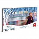 Set pictura 41 piese, 3 stampile, tus, 36 carioci si caiet cu activitati Frozen 2 Multiprint MP57981