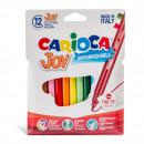Carioca super lavabila, varf subtire - 2.6mm, 12 culori/cutie, CARIOCA Joy