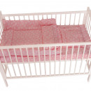 Lenjerie MyKids Crown Pink 3 Piese 140x70