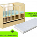 Patut cu sertar KLUPS Karolina II Natur + Saltea 10 MyKids Confort II