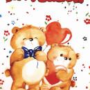 Set 6 invitatii petrecere copii cu desen elefantei sau ursuleti