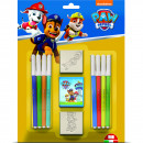 Set pictura 11 piese, 2 stampile, tus si 8 carioci Paw Patrol Multiprint MP26903