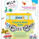 "Carte educativa Stickn Tracing Work Book - Vehicles Parade"""