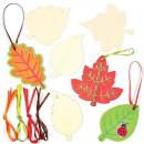 Frunze din lemn de decorat - Baker Ross