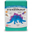 Kit constructie lemn si argila - Stegosaurus Fiesta Crafts FCT-2956