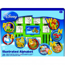Set educativ cu stampile Alfabet Disney 46 piese, 26 stampile, tus, 18 carioci si caiet cu activitati Multiprint MP1936