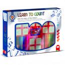 Set educativ cu stampile Numere 46 piese, 26 stampile, tus, 18 carioci si caiet cu activitati Multiprint MP1940