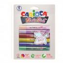 Vopsea pentru textile, rezistanta la spalare, 6 culori/blister, CARIOCA Fabric Paint - Perly