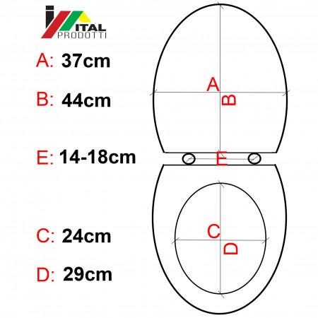 Capac WC Soft-Close Alb