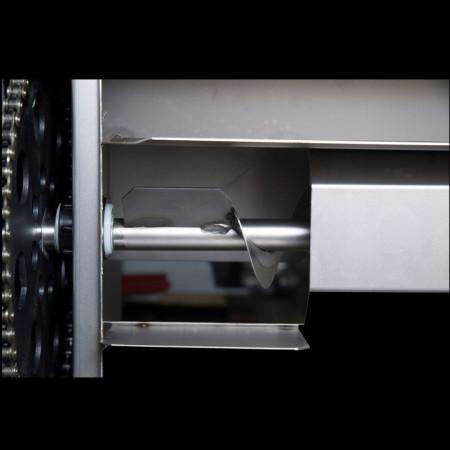 Desciorchinator cu Zdrobitor din Inox cu Motor Electric 2CP, Cuva Rabatabila Inox