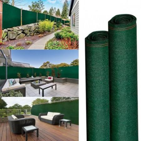 Plasa Verde pentru Gard 2x50m, Grad de Umbrire 80%