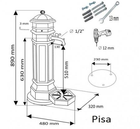 Cismea de Gradina Pisa Argintiu Hammer 26/06