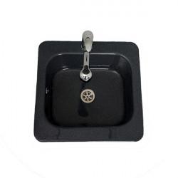 Chiuveta Bucatarie Patrata Neagra 48 cm