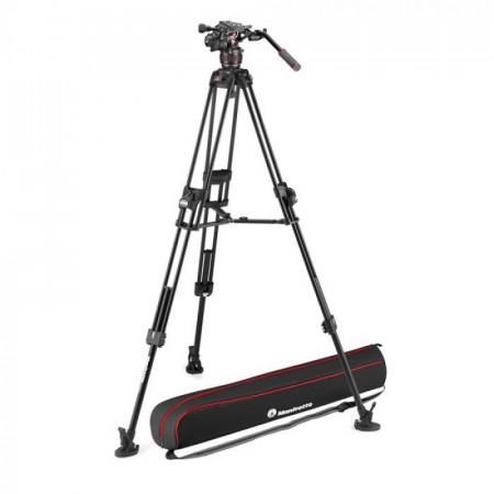 Manfrotto Nitrotech 608 645 Fast kit trepied video cu eliberare rapida
