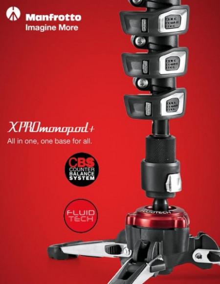 Manfrotto MVMXPROA4577 Monopied video fluid cu Quick Release