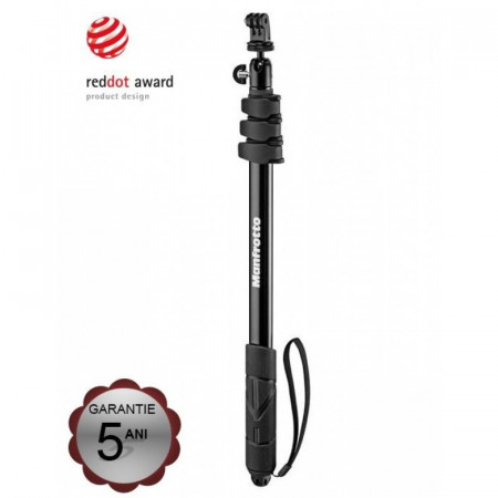 Manfrotto Compact Xtreme Monopied si Selfie Stick 44-131cm