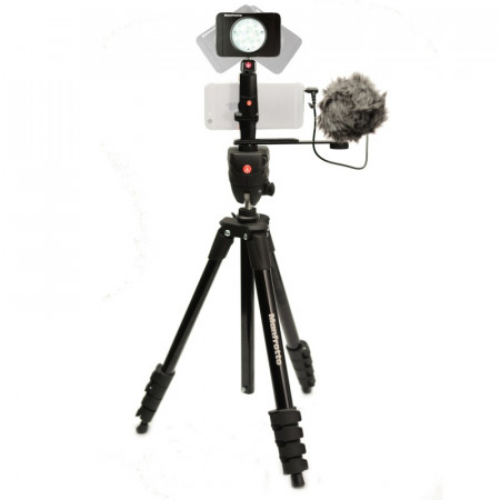 Manfrotto Kit pentru Vlogger LED8 Compact Action