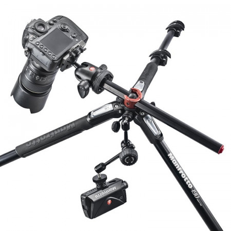 Manfrotto 190XPRO4-3W Kit trepied foto cu cap 3Way