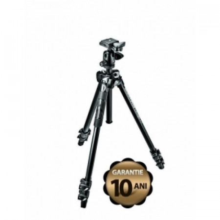 Pachet Manfrotto Kit Trepied 290 LIGHT cu cap bila + Manfrotto geanta trepied 60 cm Non Padded