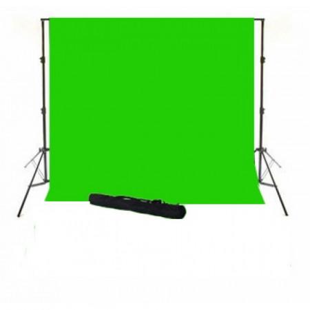 Sistem portabil cu cromakey green 3x3.5m si husa
