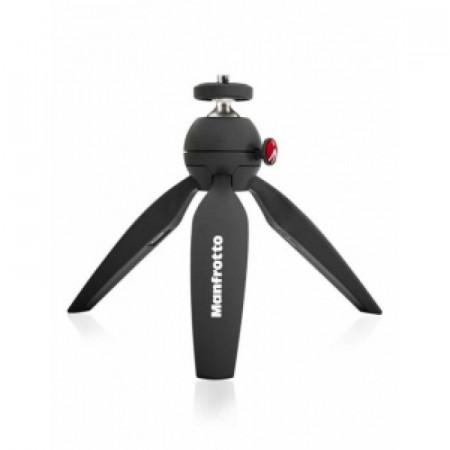 Pachet Manfrotto Pixi mini trepied foto Negru + Manfrotto Suport universal pentru Smartphone