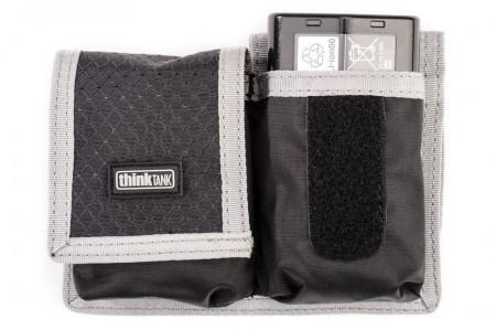 ThinkTank Pro DSLR Battery Holder - Husa usoara si compacta pentru 2 acumulatori - Gri cu Negru
