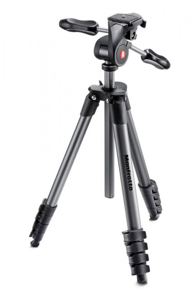 Manfrotto kit trepied foto Compact Advanced cu cap 3-Way