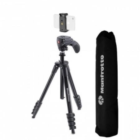 Pachet Manfrotto Compact Action Smart cu prindere pentru smartphone+Boya Lavaliera