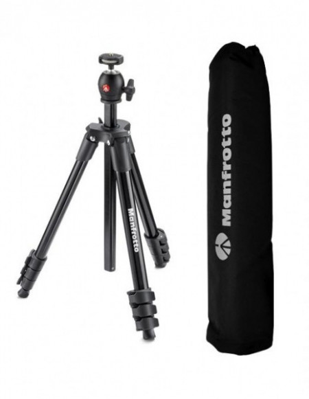 Manfrotto Compact Light trepied foto cu suport smartphone