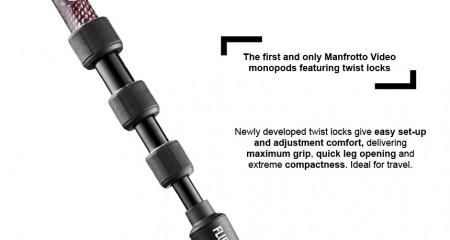 Manfrotto Element MII Monopied video fluid cu cap