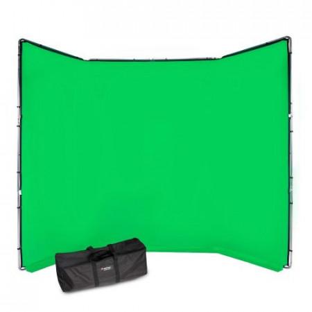 Manfrotto Fundal Chroma Key verde Panoramic cu cadru inclus 4x2.90m