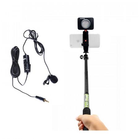 Manfrotto Kit Selfie Vlogging cu LED 3 cu Lavaliera