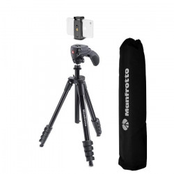 Manfrotto Compact Action Smart trepied foto video cu prindere pentru smartphone
