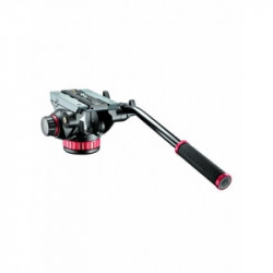 Pachet Manfrotto MVMXPROA4 Monopied fluid + Manfrotto MVH502AH cap video flat base
