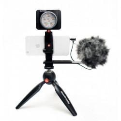 Manfrotto Kit pentru Vlogger cu minitrepied, microfon si LED 6