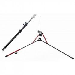 Pachet Manfrotto Smart Tilt, suport umbrela cu patina pentru blitz + Manfrotto Nanopole MS0490A Stativ cu baza detasabila + Photoflex UM-ADH45 Umbrela Argintie 114cm