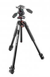 Manfrotto 190XPRO3-3W Kit trepied foto cu cap 3Way
