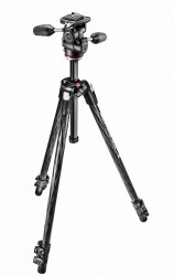 Manfrotto 290XTC3-3W Trepied foto carbon cu cap 3Way