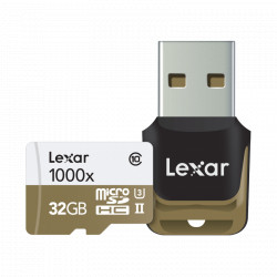 Lexar 32GB mSDHC CLS10 UHS-II 150MB/s + reader
