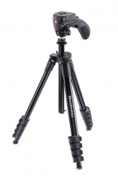 Manfrotto kit trepied foto video Compact Action Black