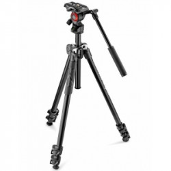 Pachet Manfrotto 290LTA kit trepied video + Manfrotto geanta trepied 60 cm Non Padded