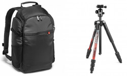 Pachet rucsac foto Manfrotto Advanced Befree + trepied foto Manfrotto Element M II