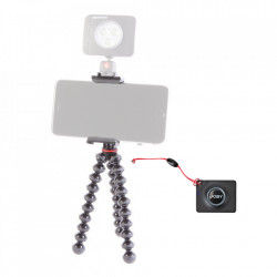 Pachet Joby GripTight Action Kit minitrepied flexibil cu telecomanda+microfon Boya Lavaliera+Manfrotto Led