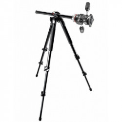 Pachet Manfrotto MK290DUA3-3W kit trepied cu cap 3Way + Manfrotto geanta trepied 75 cm Non Padded