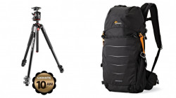 Pachet trepied foto Manfrotto 190XPRO3 + rucsac foto Lowepro Photo Sport BP 200 AW II